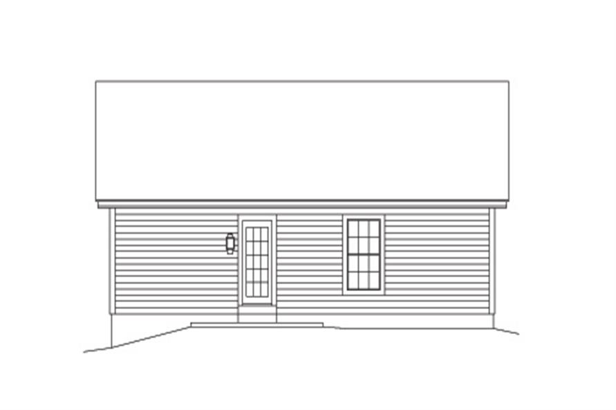 138-1137: Home Plan Rear Elevation