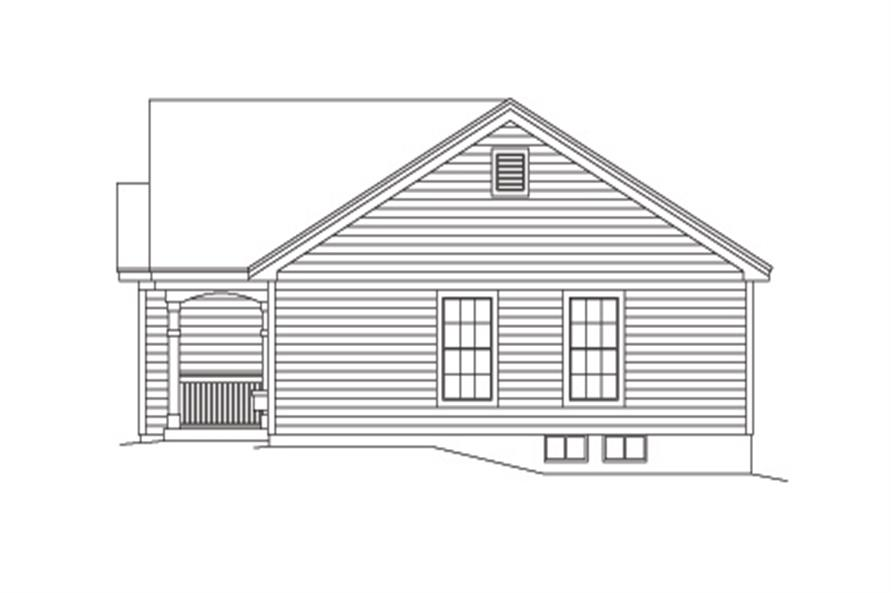 138-1137: Home Plan Right Elevation
