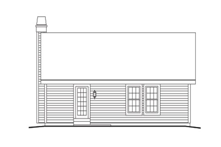 138-1138: Home Plan Rear Elevation