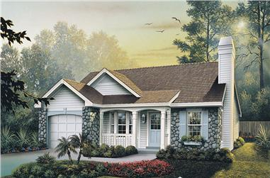3-Bedroom, 1169 Sq Ft Ranch House Plan - 138-1138 - Front Exterior