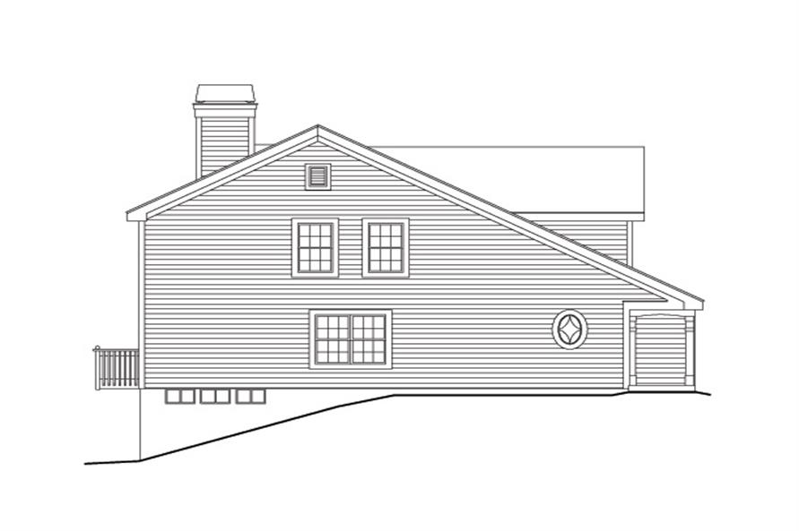 138-1139: Home Plan Left Elevation