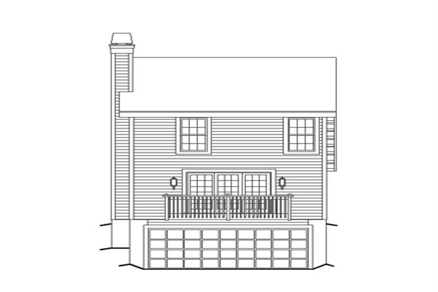 138-1139: Home Plan Rear Elevation