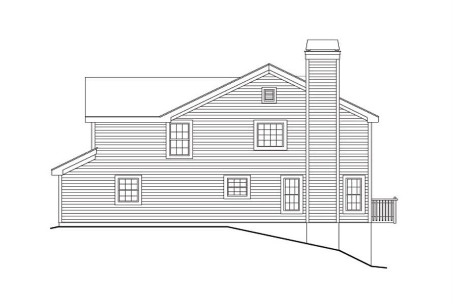 138-1139: Home Plan Right Elevation