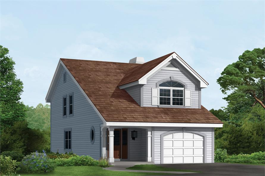 Front elevation of Traditional home (ThePlanCollection: House Plan #138-1139)