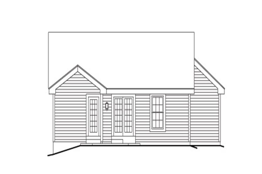 138-1140: Home Plan Rear Elevation