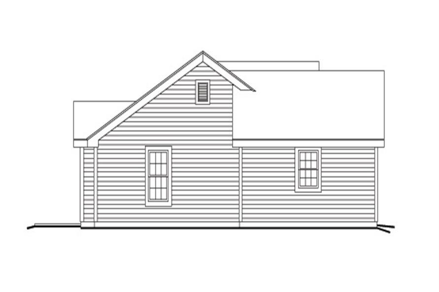 138-1140: Home Plan Left Elevation