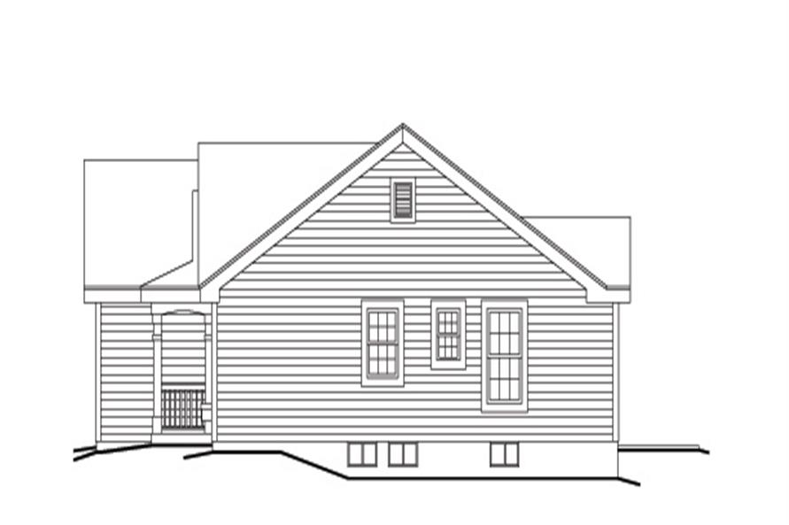 138-1140: Home Plan Right Elevation