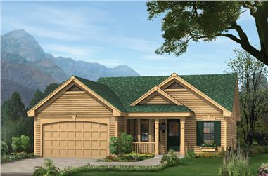 3-Bedroom, 1062 Sq Ft Cottage Home Plan - 138-1140 - Main Exterior