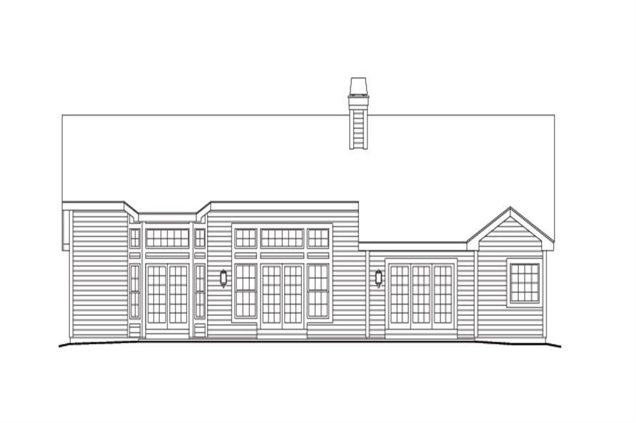 138-1141: Home Plan Rear Elevation