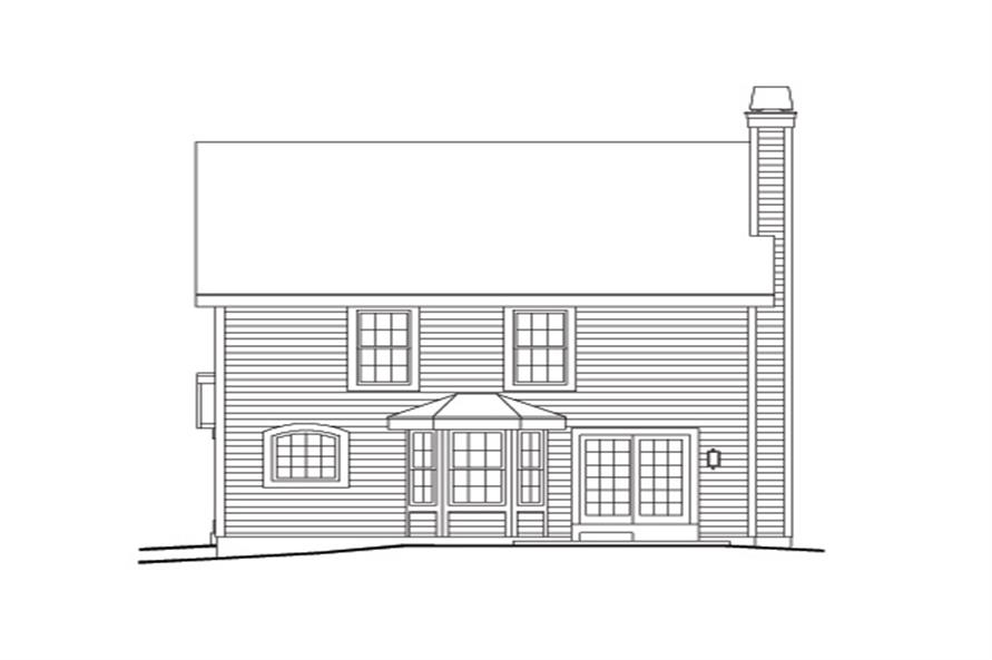 138-1142: Home Plan Rear Elevation