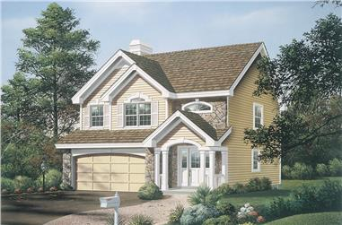 3-Bedroom, 1671 Sq Ft Traditional House Plan - 138-1142 - Front Exterior