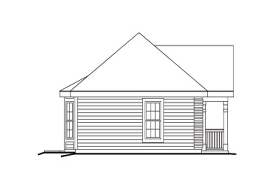 138-1143: Home Plan Left Elevation
