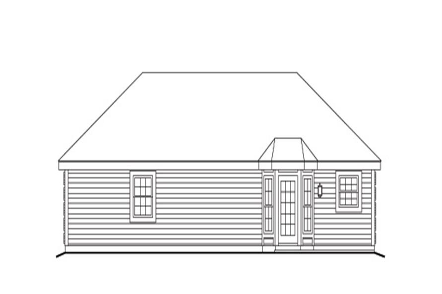 138-1143: Home Plan Rear Elevation