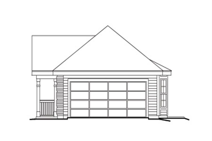 138-1143: Home Plan Right Elevation