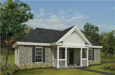 Front elevation of Small House Plans home (ThePlanCollection: House Plan #138-1143)