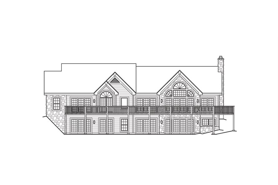 138-1144: Home Plan Rear Elevation