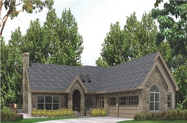 3-Bedroom, 3500 Sq Ft Traditional Home Plan - 138-1144 - Main Exterior