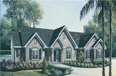 3-Bedroom, 2695 Sq Ft Traditional House Plan - 138-1145 - Front Exterior