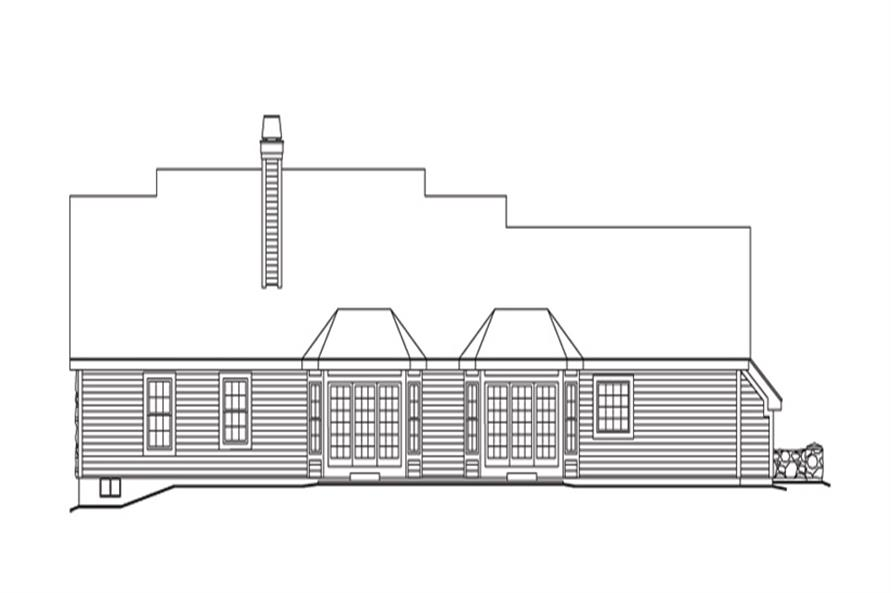 138-1146: Home Plan Rear Elevation
