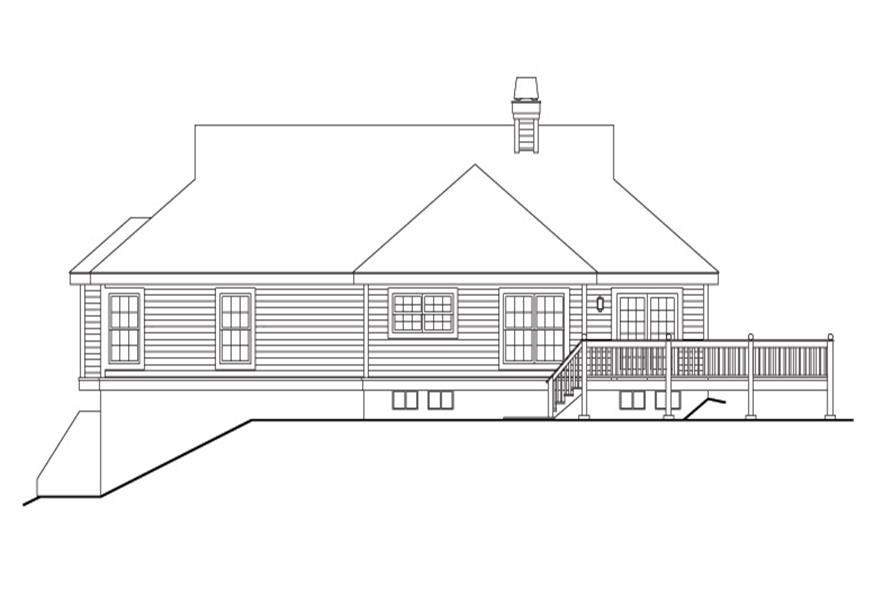 138-1147: Home Plan Rear Elevation