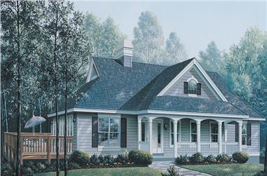 3-Bedroom, 1621 Sq Ft Ranch Home Plan - 138-1147 - Main Exterior