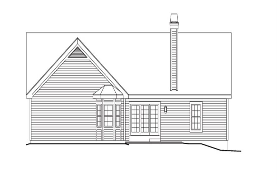 138-1148: Home Plan Rear Elevation