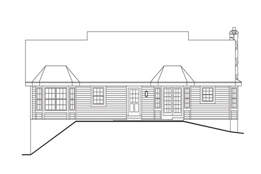 138-1149: Home Plan Rear Elevation