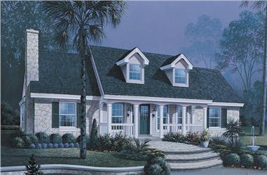 3-Bedroom, 1559 Sq Ft Ranch Home Plan - 138-1149 - Main Exterior