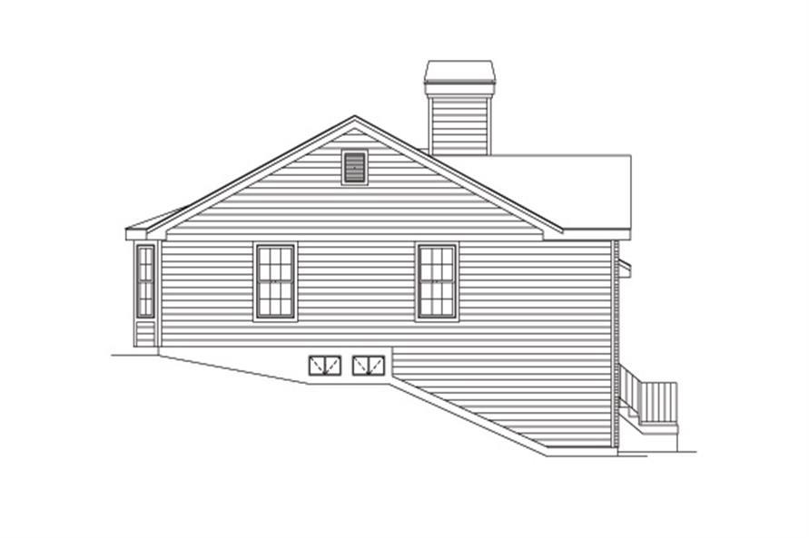 138-1150: Home Plan Left Elevation
