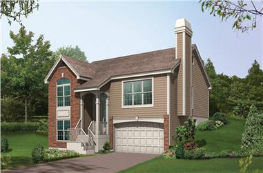 3-Bedroom, 1340 Sq Ft Traditional Home Plan - 138-1150 - Main Exterior
