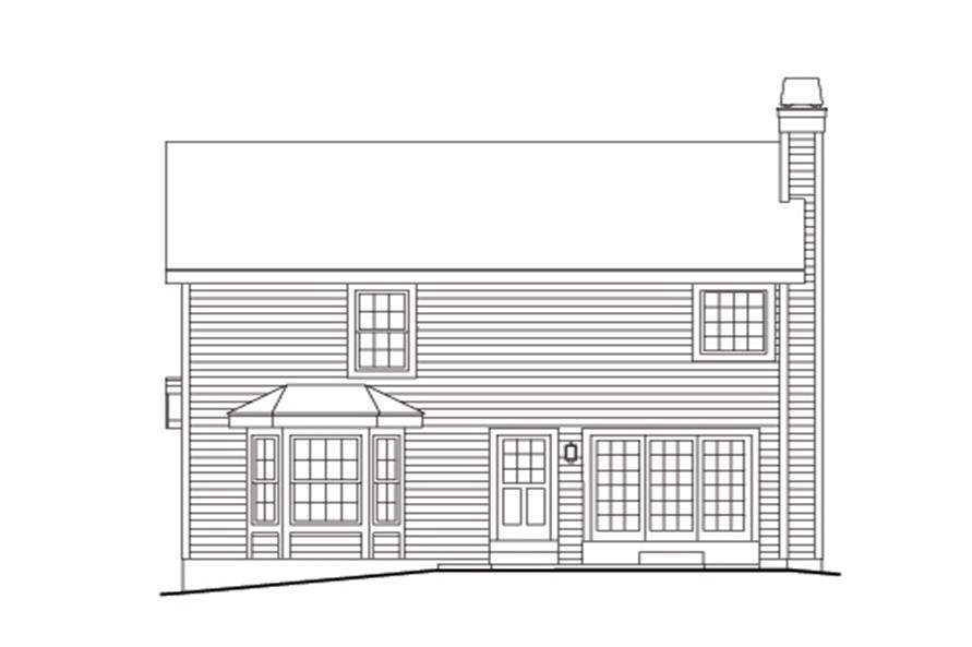138-1153: Home Plan Rear Elevation
