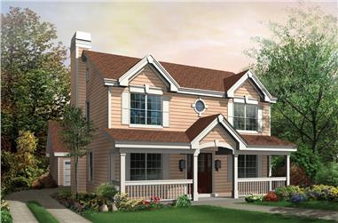 3-Bedroom, 2054 Sq Ft Traditional Home Plan - 138-1153 - Main Exterior