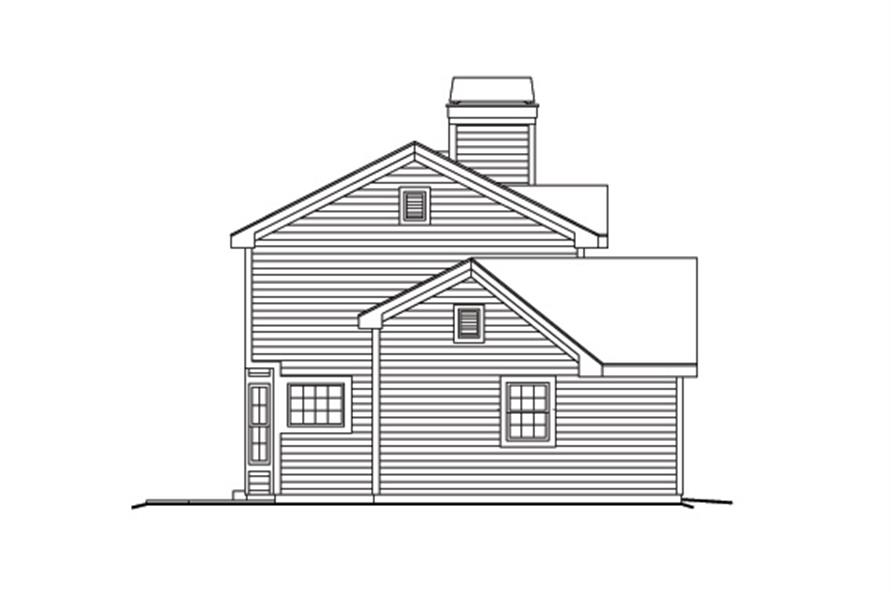 138-1154: Home Plan Left Elevation