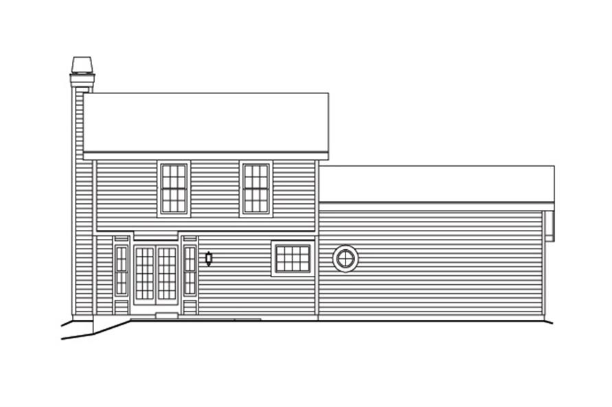 138-1154: Home Plan Rear Elevation