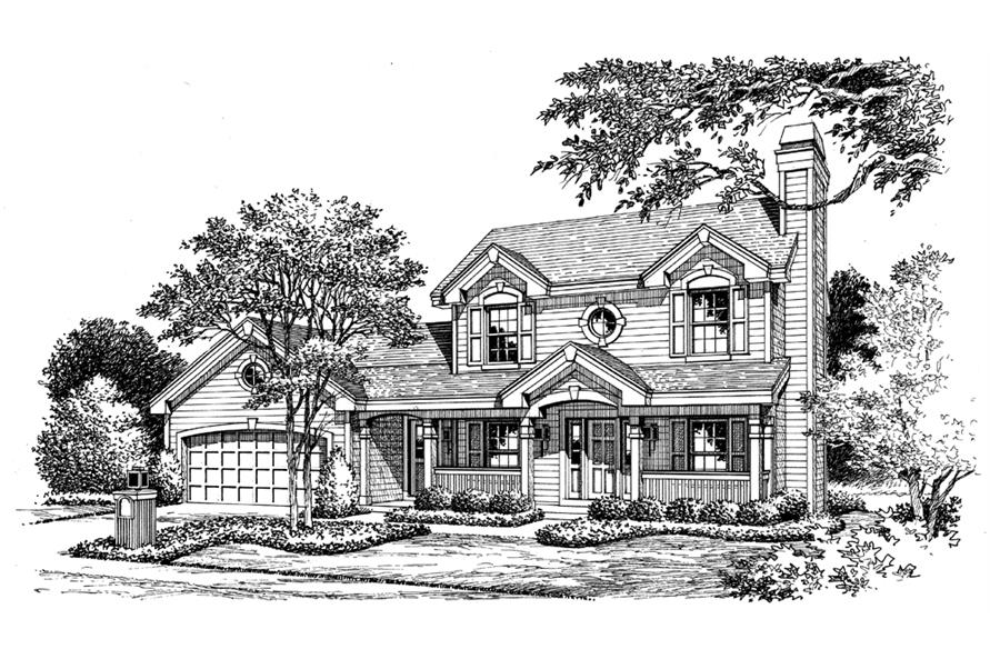 138-1154: Home Plan Rendering