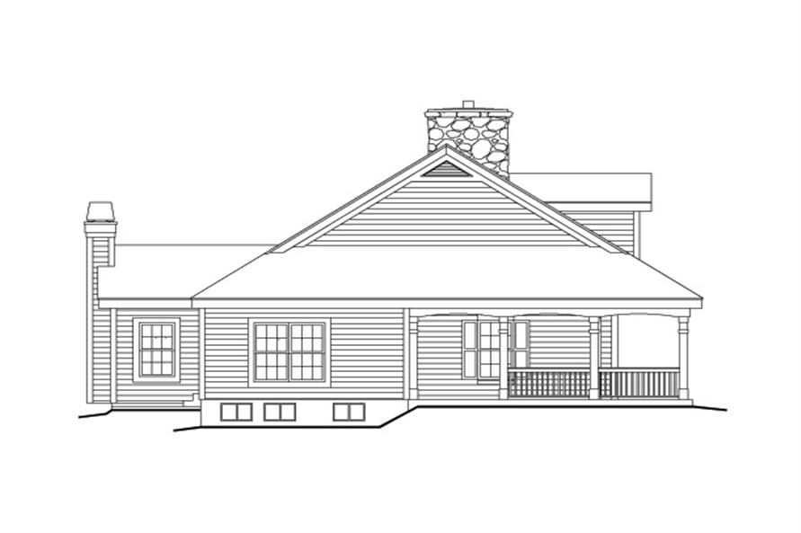 138-1155: Home Plan Left Elevation