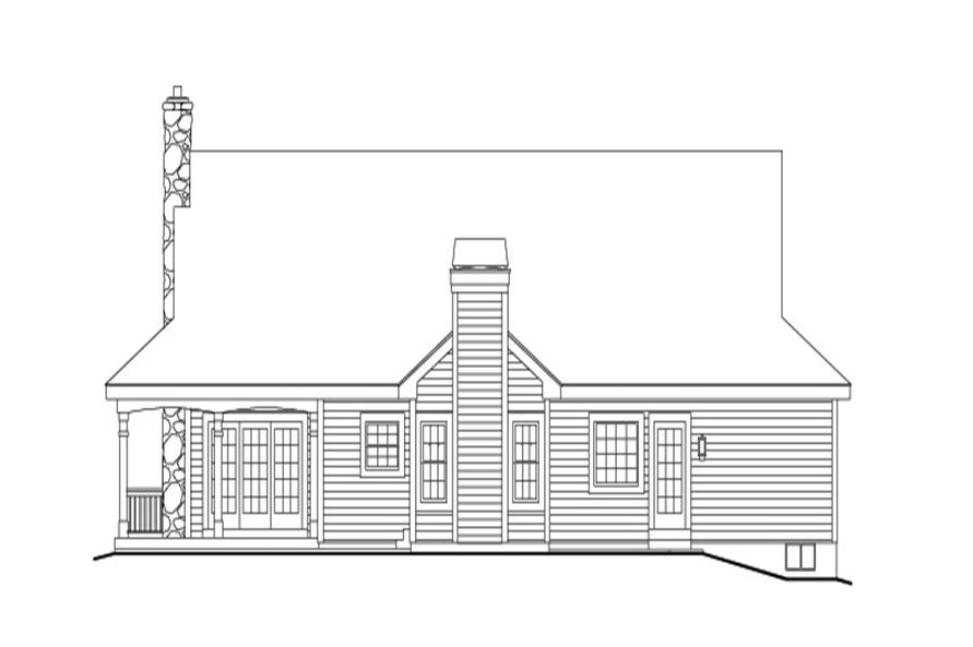 138-1155: Home Plan Rear Elevation