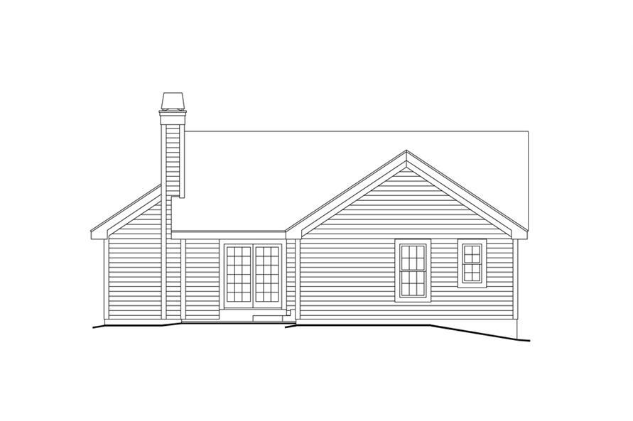 138-1156: Home Plan Rear Elevation