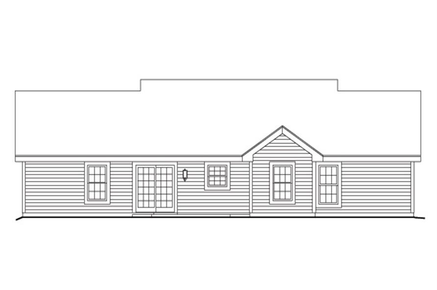 138-1157: Home Plan Rear Elevation