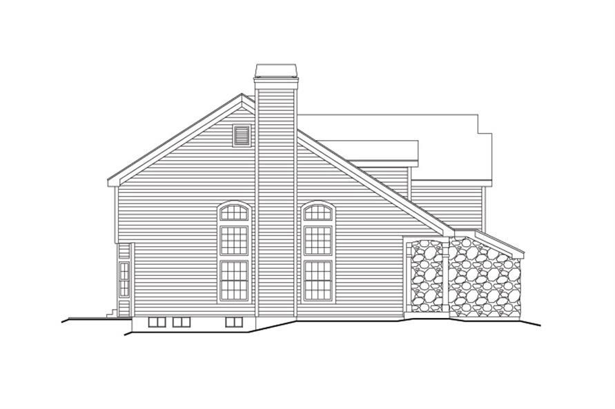 138-1158: Home Plan Left Elevation