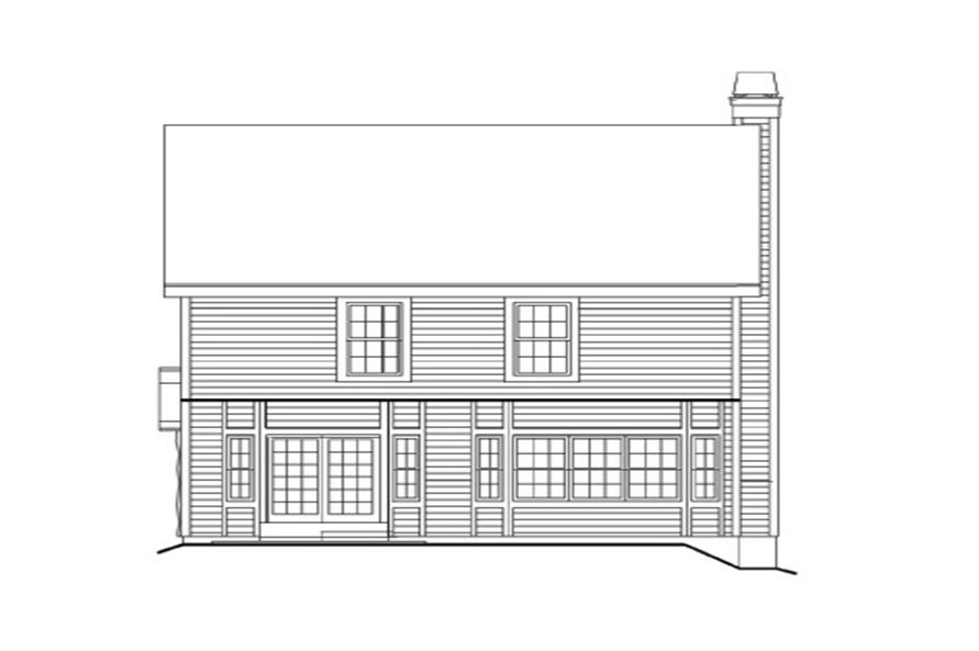 138-1158: Home Plan Rear Elevation