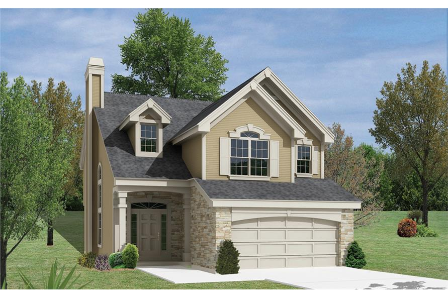 Front elevation of Country home (ThePlanCollection: House Plan #138-1158)