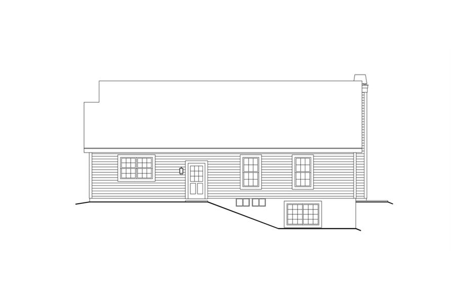 138-1159: Home Plan Rear Elevation