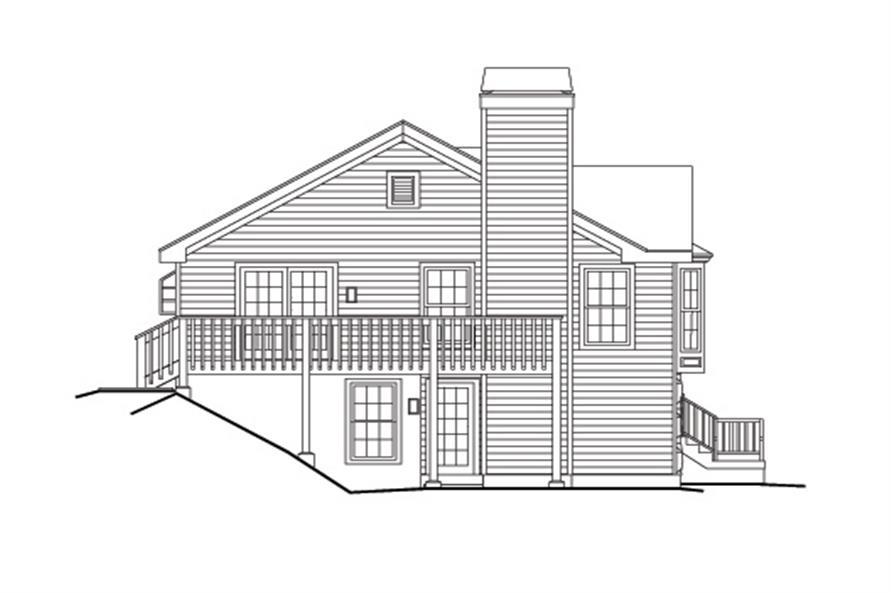 138-1160: Home Plan Left Elevation