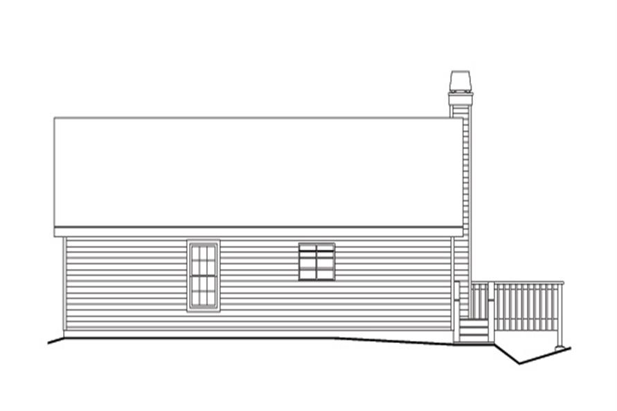 138-1160: Home Plan Rear Elevation
