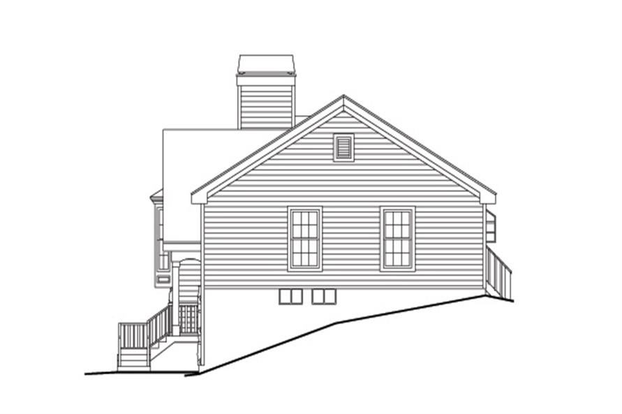 138-1160: Home Plan Right Elevation