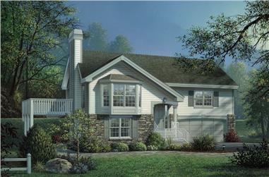 4-Bedroom, 2080 Sq Ft Traditional Home Plan - 138-1160 - Main Exterior