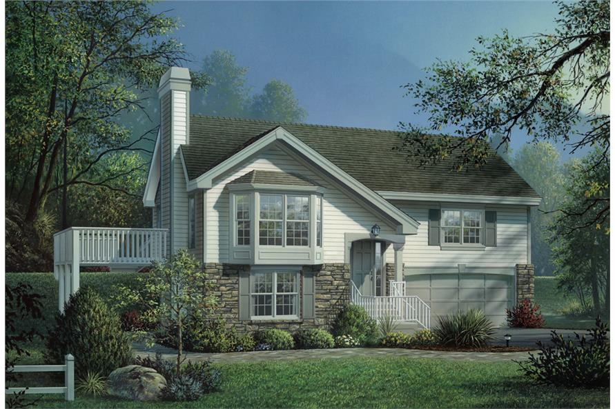 Front elevation of Traditional home (ThePlanCollection: House Plan #138-1160)