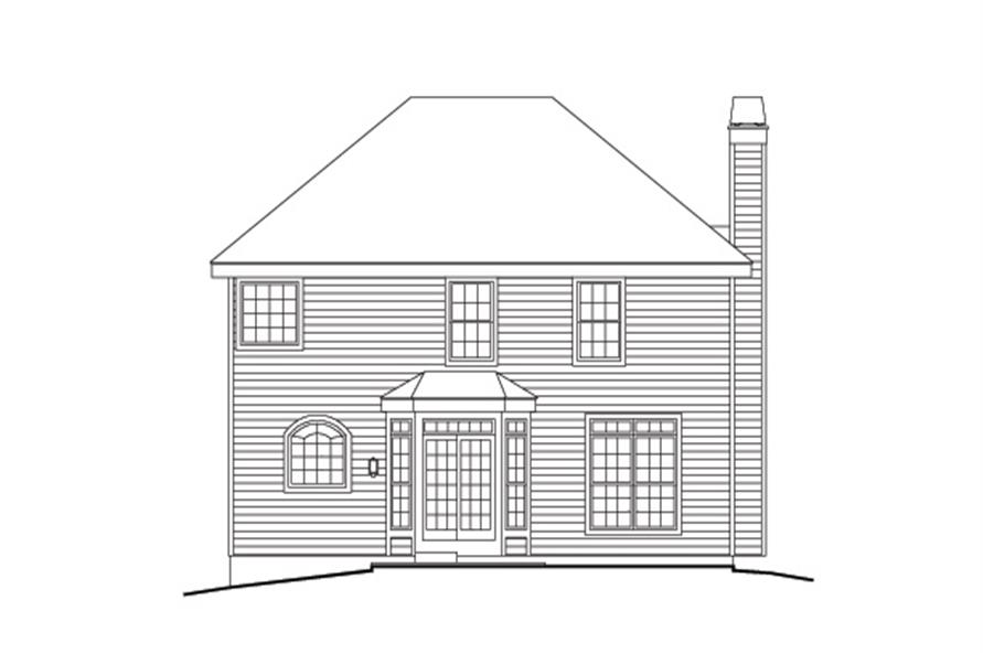 138-1161: Home Plan Rear Elevation