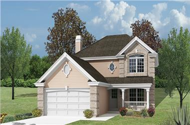 4-Bedroom, 2046 Sq Ft Traditional Home Plan - 138-1161 - Main Exterior